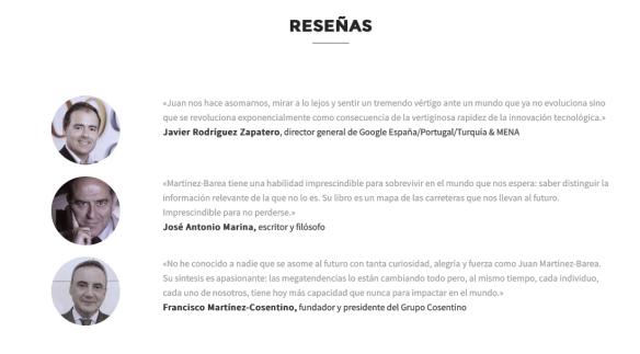 Reseñas del libro en la web http://www.elmundoqueviene.com