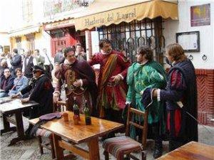 Representando El Tenorio en la Hostería del Laurel de Sevilla. Imagen de http://bit.ly/2gsIpla